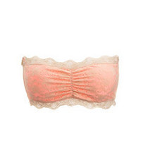 Lace Overlay Bandeau Bra: Charlotte Russe