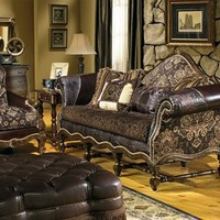 cool western style furniture custom sofa chair ottoman Bernadette Livingston Furniture is simply the best in luxury furniture and high end home furnishings.