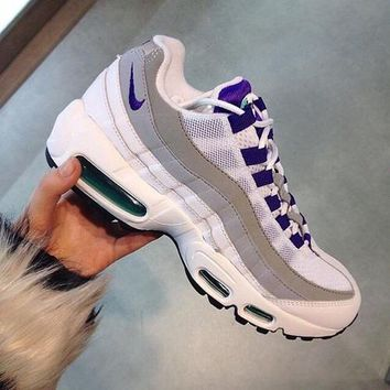 One-nice™ NIKE AIR MAX treading Man sports shoes sneaker white-gray-purple I