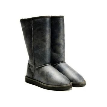 Uggs Boots Cyber Monday Metallic Tall 5812 Bomber Facket Grey For Women 85 77