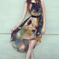 High-low Star Graphic Dress from OASAP-USA