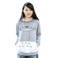 New hot 3D thick sweatshirt harajuku cartoon totoro animal print Women Suit Hoodie Spring/Autumn Outside clothes DM#6