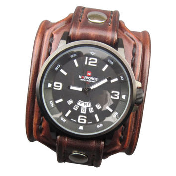 Antiallergic Brown Watch , Anti-Allergic Watch Cuff