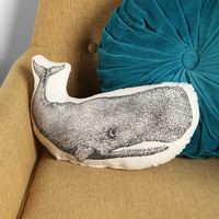 The Rise And Fall Whale Pillow