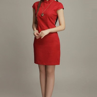 Stretch Sheath Cotton Qipao