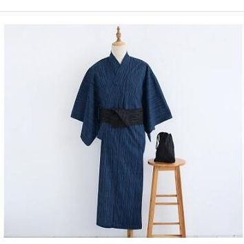 Japanese kimono Men bathrobe Bamboo cotton Robe