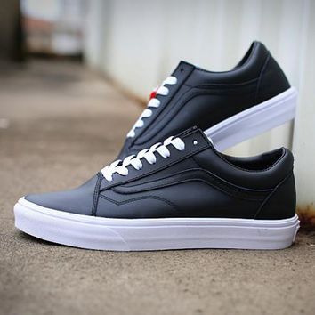 Trendsetter VANS Classic Leather Old Skool Flats Shoes Sneakers Sport Shoes