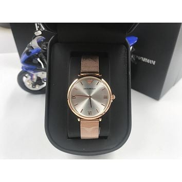 DCCK A007 Armani Emporio Steel band ladies simple small fresh waterproof quartz watches Rose Gold Sliver