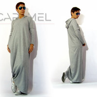 Long Dress/Maxi Dress/Top/Sweatshirt/Hooded Dress/Wool Dress/Woman's Clothing by CARAMEL fs - D-6615