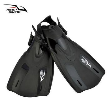 DCCK7N3 KEEP DIVING Adjustable Scuba Diving Fins For Adult Women Or Men Swimming Training Equipment Monofin Shoes Snorkeling Flippers