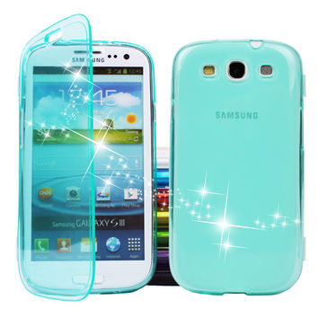 Cool Summer Ocean Blue Ultrathin Transparent TPU Case For Galaxy S III i9300