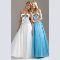 Mosaic Shaped Ball Gown Prom Dress = 5861475457