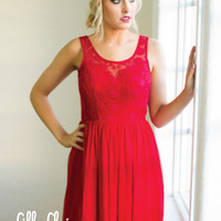 Girl's Night Out Dress in Red