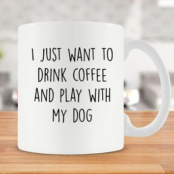 Funny Coffee Mugs Dog Lover Gifts For Her Best Coffee Cup Dog Mom Mug Coffee Lover Dog Lover Mug Dog Mom Gift Ideas For Women - SA803