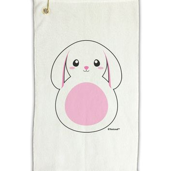 "Cute Bunny with Floppy Ears - Pink Micro Terry Gromet Golf Towel 11""x19 by TooLoud"