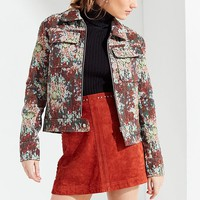 UO Floral Jacquard Bomber Jacket | Urban Outfitters