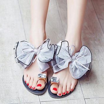 Women Sandals Fashion Lace Butterfly Summer Sandals shoes