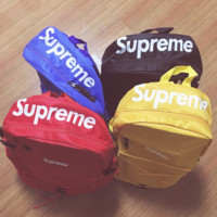 Supreme Canvas Casual Shoulder SchoolBag Satchel Handbag Backpack Travel bag
