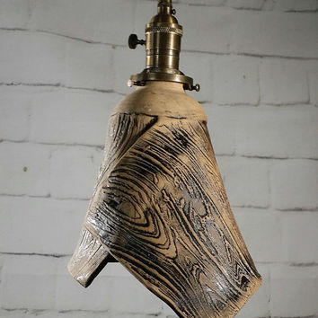 Handcrafted Wood Texture Hanging Pendant Light