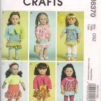 McCalls M6370 18 Inch Doll Clothes Dress Bolero Skirt and More