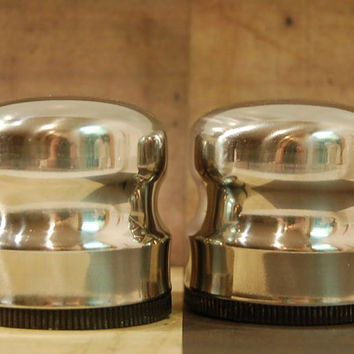 Stainless Steel Salt and Pepper Shakers Made in Denmark Modern Industrial