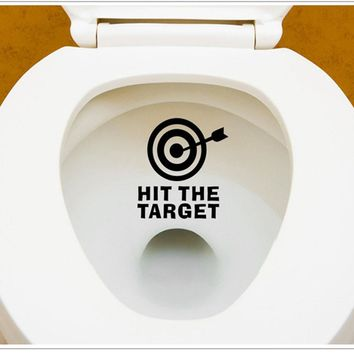 Arrow Target Toilet Seat Bathroom Sticker Home Refrigerator Wall Decal Art