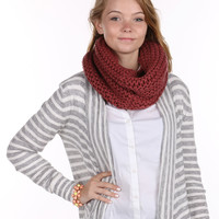 Red Knit Infinity Neck Warmer