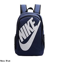 NIKE Trending Sport College Shoulder Bag Travel Bag School Backpack Navy Blue