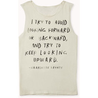 FOREVER 21 Charlotte Bronte Muscle Tee