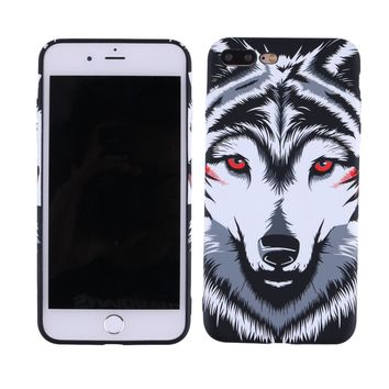 White Wolf Pattern iPhone Utra-thin Cellphone Case