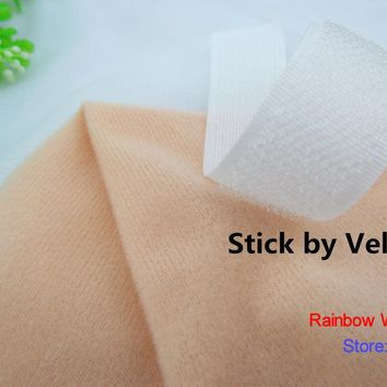 9271# Skin Color Loop Fleece fabric can stick by Magic tape/DIY patchwork Stuffed toys sofa  brushed velboa velvet(10 pieces)