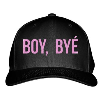 Boy Bye Embroidered Baseball Cap