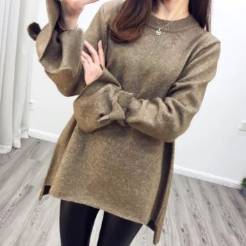Causal  tie knot sweater B0016433