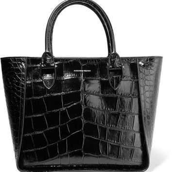Alexander McQueen - Inside Out croc-effect leather tote
