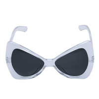 Transparent Sheer Full Frame Bow Shape Sunglasses