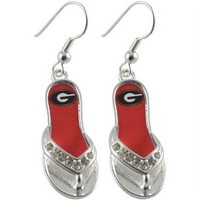 Georgia Bulldogs Flip Flop Earrings | UGA Earrings | Georgia Bulldogs Earrings