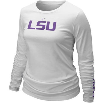 Nike LSU Tigers Ladies White Classic Logo Long Sleeve T-shirt