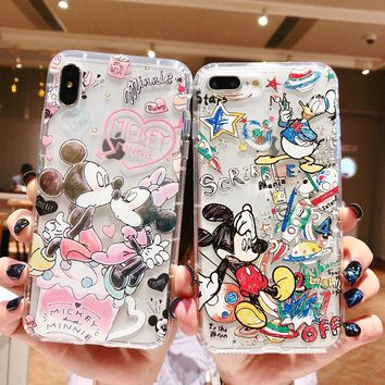 Doodle Graffiti Scribble Minnie Mickey Mouse Cartoon Phone Case