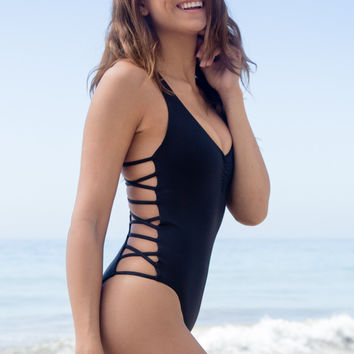 L*Space Swim - Ricki One Piece | Black