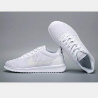 NIKE Cortez Forrest gump lovers shoes running shoes running shoes pure white soles H-MDTY-SHINING