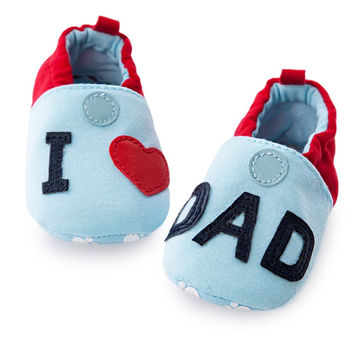 Cute Infants Elastic Band Knitted Toddler Girl Boy Wool Crib Shoes Autumn Baby Shoes Love MOM/DAD