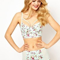 ASOS Boudoir Cotton Floral Bra at asos.com