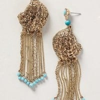 Conchiglia Fringe Earrings by Tribune Standard Gold One Size Earrings
