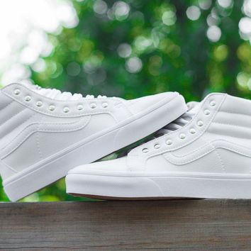 12f713c499 Vans CUSTOMIZE Customs Sk8-Hi All White ZY-041 Sneaker Casual Shoes