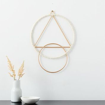 Hanging Medallion Wall Art - Tassels