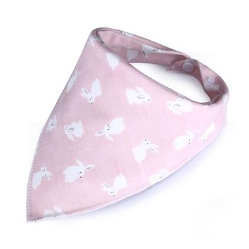 New Cute Baby Bibs Cartoon Printing Cotton Newborn Infant Girls And Boys Toddler Triangle Scarf Bandana