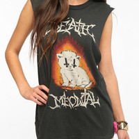 UNIF Death Meow Metal Muscle Tee