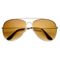 Oversize Large Full Metal Aviator Sunglasses 60mm 9682