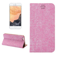 100% Handmade Pink Oxford Fabric Leather Wallet iPhone Cases for 5S 6 6S Plus Free Shipping