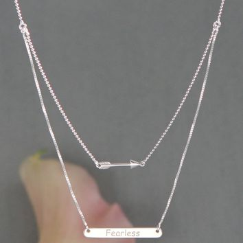 Fearless Sterling Silver Layered Necklace